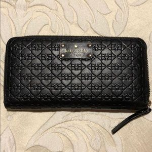 Kate Spade Black zip around Wallet